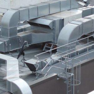 Sistema de Exaustão com vista aérea